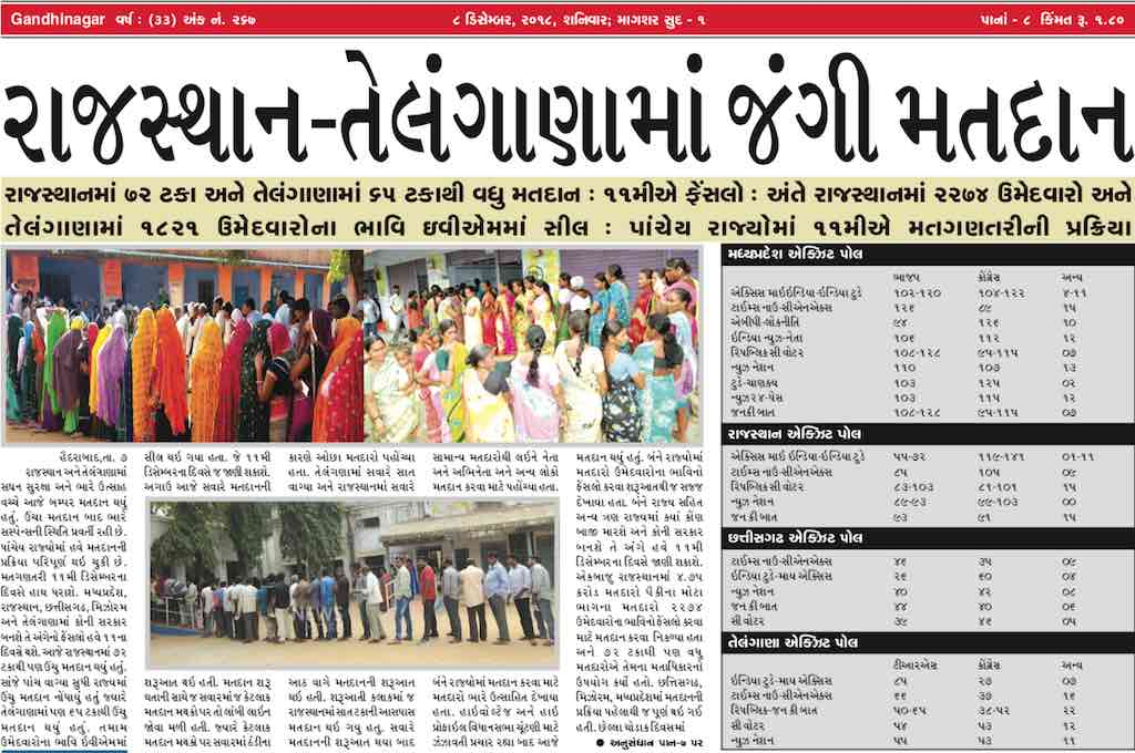 8th December 2018- Gandhinagar Samachar